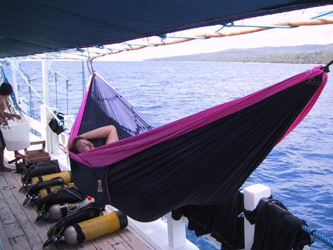 TTTM Hammock Indonesia boat trip