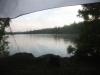 View from my hammock at Pleasont Pond Lean-to, ME
