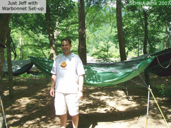 Just Jeff with his Warbonnet hammock