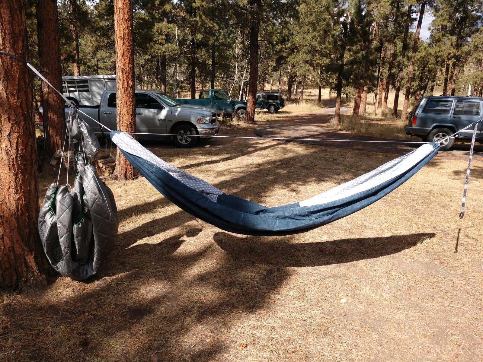 DIY quilted indoor hammock
