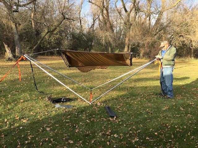Tensa stand with ridge runner hammock 1