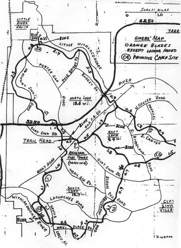 Richloam Florida Trail Map