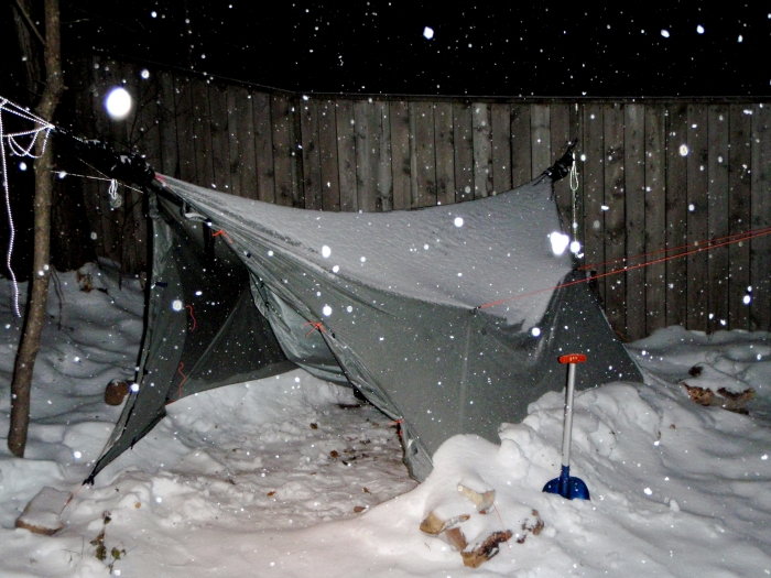 Winter Tarp In Snow
