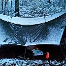 Old Man Winter in the snow by Rain Man in Tarps