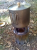 Snow Peak 900 with custom ti lid made by Four Dog Stoves
