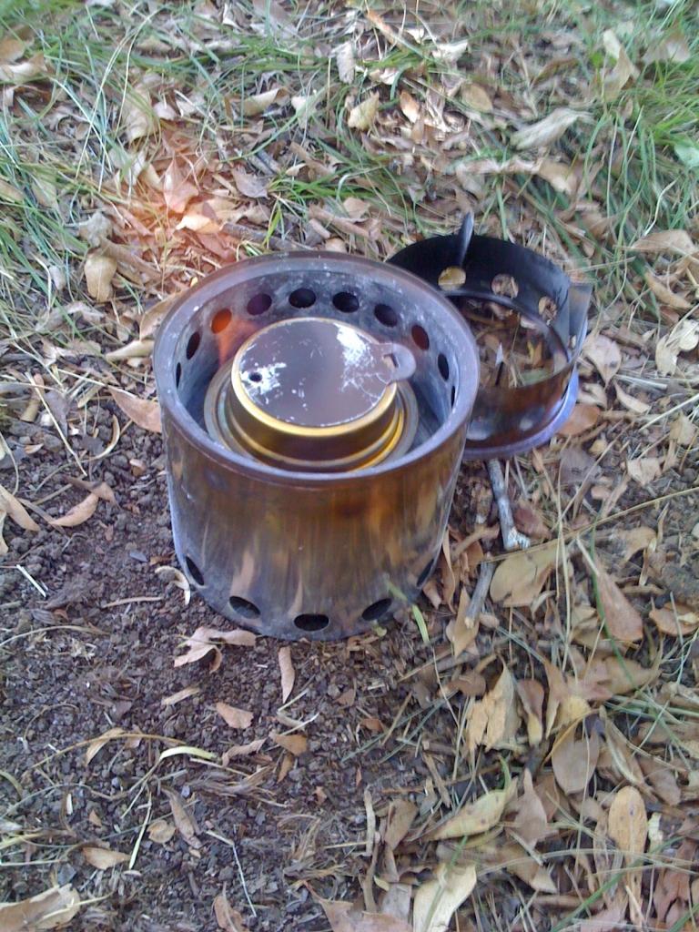 Bushbuddy stove with Trangia
